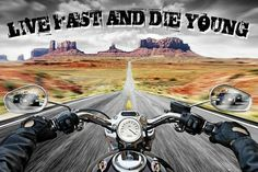 Live Fast & Die Young - Maxi Poster 61cm x 91.5cm (new & sealed)