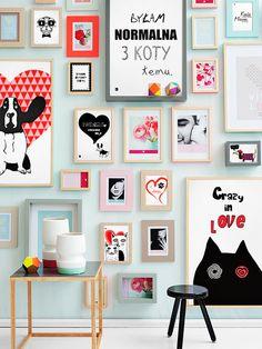 Zestaw Grafik na ścianie/ Liliput Graphics on the wall