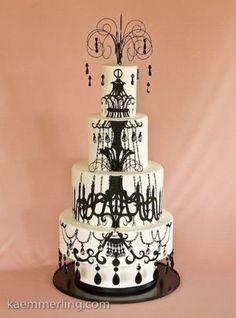 amazing chandelier cake