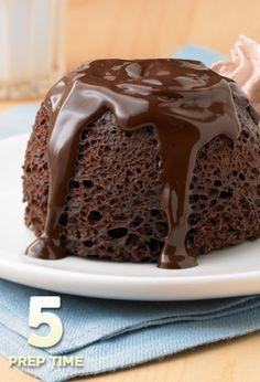 Chocolate Lava Mug Cakes... A fun and five-minute-way to make chocolate cake.