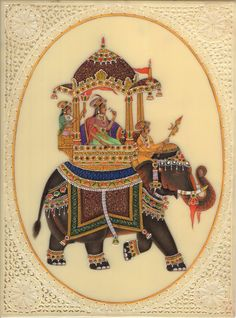 Mughal Paintings, Dance Paintings, Indian Art Paintings, Classic Paintings, Rajasthani Miniature Paintings, Rajasthani Painting, Rajasthani Art, Elephant Tapestry, Elephant Art