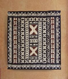 Authentic Masi or Tapa cloth from the Fijian islands.