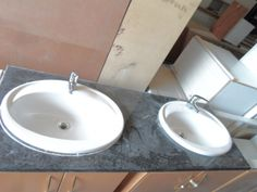 His And Her Rusternburg Granite Bathroom Vanity Counter With Sink And Ofa Mixer Granite Bathroom, Junk Mail, Mixer, Counter, Household, Sink, Vanity, Decor, Sink Tops