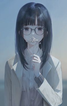 I smell the flower i gave me, however, you didn't care about that! Manga Girl, Manga Anime, Anime Girl Cute, Beautiful Anime Girl, Kawaii Anime Girl, Anime Art Girl, Anime Girls, Anime Style, Manga Font