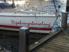Dump A Day Funny Boat Names That Prove Men Never Really Mature - 25 Pics. Either that, or he's a Discworld fan. Unique Boat Names, Clever Boat Names, Funny Boat Names, Best Boat Names, Name Pictures, Funny Meme Pictures, Boat Dock, Pontoon Boat, Boat Humor