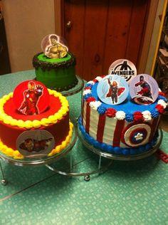 Super hero cakes- I like the Captain America cake