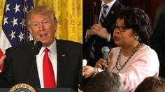 President Donald Trump on Thursday asked April Ryan, an African-American reporter and longtime White House correspondent, if she would arrange for him a meeting with the Congressional Black Caucus.