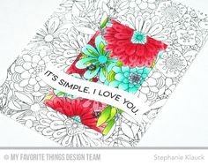 Handmade card from Stephanie Klauck featuring Bundles of Blossoms Background #mftstamps