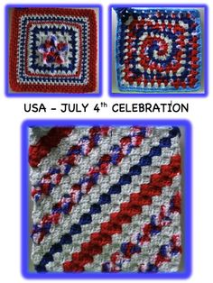 4th of July Celebration from Robin M. www.knit-a-square.com/