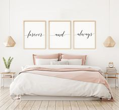 Truly Madly Deeply Sign, Bedroom Wall Decor, Above Bed Decor, Master Bedroom Wall Art, Set of 3 Prin Posters Decor, Bedroom Posters, Bedroom Prints, Bedroom Signs, Teenage Room Decor, Couple Room, Plakat Design, Bedroom Decor For Couples, Home Decor Quotes