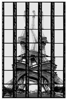 Comme un puzzle, Thomas Kellner prend ses photos de façon à recomposer une image à l'édition de la planche contact ! Un exercice complexe au resultat surprenant !