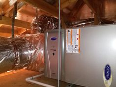 We Installed This Furnace In A Clients Attic Last Month The Unit To The Left Of The Furnace Is Our Infinit Furnace Repair Repair And Maintenance Hvac Services
