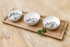 Tapas tray & 3 tapas bowls by Lardiere Fine Foods Tapas, Entertaining, Dinner, Tableware, Pretty, Bowls, Mothers, Elegant, Food