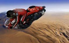 Hover Bike over Arizona, USA by xparament on deviantART