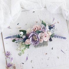Purple Hair comb, Lilac Bridal hair comb, Lavender Wedding hair comb, Bridal headpiece, Wedding headpiece, Bridesmaids headpiece