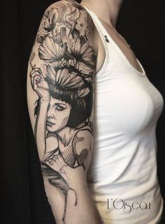 Merci Vanessa pour ta confiance. Tattoo Artist: L'oiseau · Franck Soler