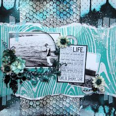 Life is short. Live. featuring *2Crafty Chipboard* - Scrapbook.com