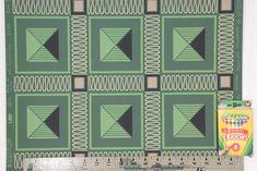 1950s Vintage Wallpaper Retro Green Squares