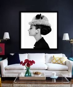 Audrey Hepburn Poster PRINTABLE FILE - avl in square & rectangle, Fashion art…