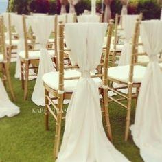 pearl wedding centerpiece ideas | Ruby Rain Wedding Decor & Flowers Blog: Chair tie-back Ideas for your ...