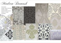 "Modern Damask Trend presented by our friends over at ""Write on Trend."""