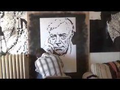 Ai Weiwei cut out of paper portrait - YouTube