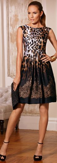 Animal Lace Ombre Dress pinned by Maria
