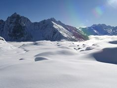 Pillow of soft snow covering the mountains of Revelstoke, BC #Revelstoke