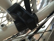 Rear Triangle Carbon Fiber Frame Guard Protector (FlowerPlus)