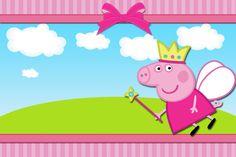 Peppa Pig Princesa –  Kit Completo Digital com molduras para convites, rótulos para guloseimas, lembrancinhas e imagens!