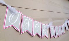 """""""Once Upon a Time"""" Storybook Theme Baby Shower Banner; Fairytale theme baby shower banner; Pink Banner; by LetsGetDecorative, $25.00"""