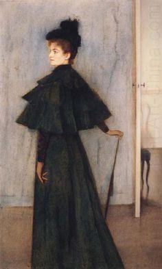Fernand Khnopff - Portrait of Mrs Botte (1896)