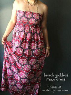 beach goddess maxi dress tutorial // made by rae
