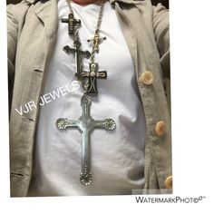 In order I created this VJR ( cross) JEWELS necklace , mixed and matched some beautiful antique crosses