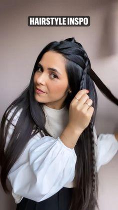 Hairdo For Long Hair, Bun Hairstyles For Long Hair, Pretty Hairstyles, Girl Hairstyles, Front Hair Styles, Medium Hair Styles, Curly Hair Styles, Hair Tips Video, Hair Videos
