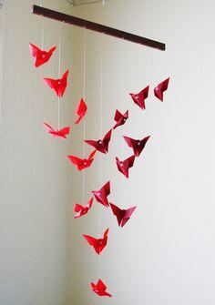 Origami Mobile - Fluttering Butterflies