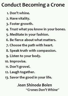 Crone wisdom