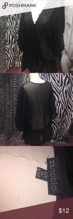 Zenobia  cute see through top See through cute black top zenobia Tops Blouses