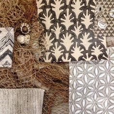 // TEXTILE TUESDAY // This unassuming seaside shack is shaping up to be quite the showstopper! Featuring all our favourites @papermills @waltergtextiles @studiofournyc 🐚🐚🐚