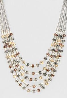 Yasmina Mixed Metal Necklace, 9-0035996001, Yasmina Mixed Metal Necklace Main View PDP #ChristopherandBanksLove #CJBanksLove