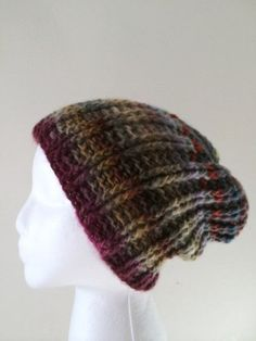 8a557b31809 Hand crocheted multicolored beanie hat