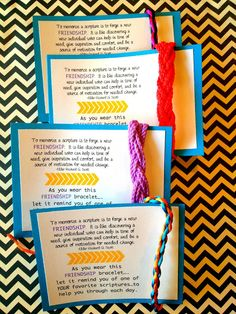 Marci Coombs: Scripture Study Handout and Camp challenge.