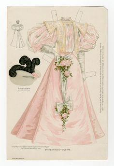 75.2336: Bridesmaid's Toilette  1895   wedding gown