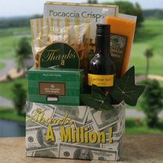 Colossal Thank You   Thank You Wine Gift Basket  Price: $43.95    Price includes FREE SHIPPING via Ground service!