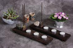 Castiçal Incensário para 3 velas