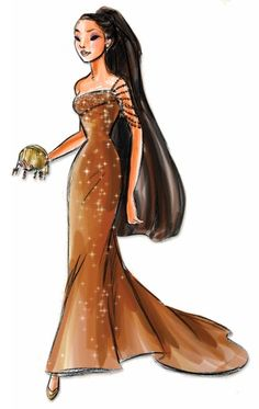 Disney Princess Designer Collection Concept Art: Pocahontas. #disney
