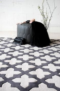 TRC Empire Smoke Rug. 100% Wool. Hand tufted #TheRugCollection