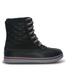 Another great find on #zulily! Black & Light Gray AllCast Duck Boot by Crocs #zulilyfinds