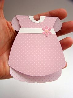 Convite chá de bebê - vestido | Ateliê Cor e Encanto | Elo7