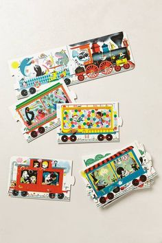 ✔️All Aboard Train Puzzle by Anthropologie